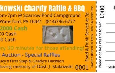 5th Annual Dash J. Makowski Charity Raffle & BBQ